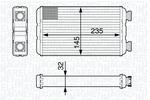 Nagrzewnica ogrzewania kabiny MAGNETI MARELLI 350218338000