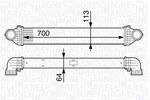 Chłodnica powietrza doładowującego - intercooler MAGNETI MARELLI 351319201970 MAGNETI MARELLI 351319201970