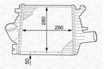 Chłodnica powietrza doładowującego - intercooler MAGNETI MARELLI 351319201980 MAGNETI MARELLI 351319201980