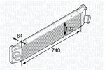 Chłodnica powietrza doładowującego - intercooler MAGNETI MARELLI 351319201990 MAGNETI MARELLI 351319201990