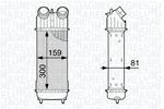 Chłodnica powietrza doładowującego - intercooler MAGNETI MARELLI 351319202030 MAGNETI MARELLI 351319202030