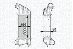 Chłodnica powietrza doładowującego - intercooler MAGNETI MARELLI 351319202040 MAGNETI MARELLI 351319202040
