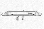 Chłodnica powietrza doładowującego - intercooler MAGNETI MARELLI 351319202140 MAGNETI MARELLI 351319202140