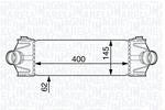 Chłodnica powietrza doładowującego - intercooler MAGNETI MARELLI 351319202170 MAGNETI MARELLI 351319202170