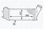 Chłodnica powietrza doładowującego - intercooler MAGNETI MARELLI 351319202200 MAGNETI MARELLI 351319202200