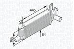 Chłodnica powietrza doładowującego - intercooler MAGNETI MARELLI 351319202240 MAGNETI MARELLI 351319202240