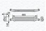 Chłodnica powietrza doładowującego - intercooler MAGNETI MARELLI  351319202260