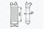 Chłodnica powietrza doładowującego - intercooler MAGNETI MARELLI 351319202310 MAGNETI MARELLI 351319202310