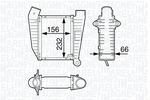 Chłodnica powietrza doładowującego - intercooler MAGNETI MARELLI  351319202450