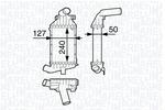 Chłodnica powietrza doładowującego - intercooler MAGNETI MARELLI 351319202490 MAGNETI MARELLI 351319202490