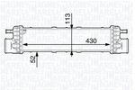 Chłodnica powietrza doładowującego - intercooler MAGNETI MARELLI 351319202520 MAGNETI MARELLI 351319202520