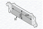 Chłodnica powietrza doładowującego - intercooler MAGNETI MARELLI 351319202580 MAGNETI MARELLI 351319202580