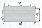 Chłodnica powietrza doładowującego - intercooler MAGNETI MARELLI 351319202700 MAGNETI MARELLI 351319202700