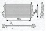Chłodnica powietrza doładowującego - intercooler MAGNETI MARELLI 351319202730 MAGNETI MARELLI 351319202730