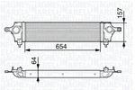 Chłodnica powietrza doładowującego - intercooler MAGNETI MARELLI 351319202800 MAGNETI MARELLI 351319202800