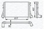 Chłodnica powietrza doładowującego - intercooler MAGNETI MARELLI  351319202850