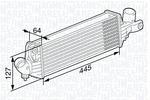 Chłodnica powietrza doładowującego - intercooler MAGNETI MARELLI 351319203330 MAGNETI MARELLI 351319203330