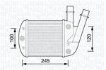 Chłodnica powietrza doładowującego - intercooler MAGNETI MARELLI 351319203450 MAGNETI MARELLI 351319203450