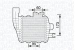 Chłodnica powietrza doładowującego - intercooler MAGNETI MARELLI 351319203470 MAGNETI MARELLI 351319203470