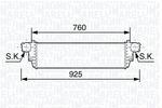 Chłodnica powietrza doładowującego - intercooler MAGNETI MARELLI 351319203480 MAGNETI MARELLI 351319203480