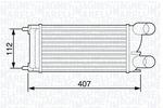 Chłodnica powietrza doładowującego - intercooler MAGNETI MARELLI 351319203550 MAGNETI MARELLI 351319203550