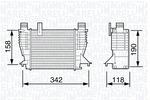Chłodnica powietrza doładowującego - intercooler MAGNETI MARELLI 351319203560 MAGNETI MARELLI 351319203560