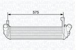 Chłodnica powietrza doładowującego - intercooler MAGNETI MARELLI 351319203570 MAGNETI MARELLI 351319203570