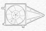 Wentylator chłodnicy silnika MAGNETI MARELLI 069422211010