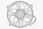 Wentylator chłodnicy silnika MAGNETI MARELLI  069422291010