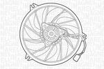 Wentylator chłodnicy silnika MAGNETI MARELLI  069422391010