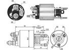 Włącznik elektromagnetyczny, rozrusznik MAGNETI MARELLI  940113050458