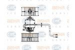 Wentylator wnętrza - dmuchawa BEHR HELLA SERVICE  8EW 009 159-181