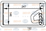Nagrzewnica ogrzewania kabiny BEHR HELLA SERVICE 8FH 351 333-091 BEHR HELLA SERVICE 8FH351333-091