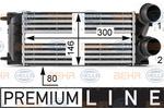 Chłodnica powietrza doładowującego - intercooler BEHR HELLA SERVICE 8ML 376 700-071 BEHR HELLA SERVICE 8ML376700-071