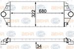 Chłodnica powietrza doładowującego - intercooler BEHR HELLA SERVICE 8ML 376 700-544 BEHR HELLA SERVICE 8ML376700-544