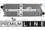 Chłodnica powietrza doładowującego - intercooler BEHR HELLA SERVICE 8ML 376 700-621 BEHR HELLA SERVICE 8ML376700-621