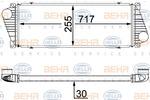 Chłodnica powietrza doładowującego - intercooler BEHR HELLA SERVICE 8ML 376 700-624 BEHR HELLA SERVICE 8ML376700-624