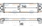 Chłodnica powietrza doładowującego - intercooler BEHR HELLA SERVICE 8ML 376 700-634 BEHR HELLA SERVICE 8ML376700-634