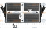 Chłodnica powietrza doładowującego - intercooler BEHR HELLA SERVICE 8ML 376 700-671 BEHR HELLA SERVICE 8ML376700-671