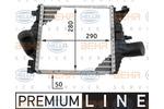 Chłodnica powietrza doładowującego - intercooler BEHR HELLA SERVICE 8ML 376 724-121 BEHR HELLA SERVICE 8ML376724-121