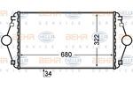Chłodnica powietrza doładowującego - intercooler BEHR HELLA SERVICE 8ML 376 727-641 BEHR HELLA SERVICE 8ML376727-641
