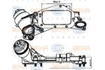 Chłodnica oleju silnikowego BEHR HELLA SERVICE 8MO 376 729-211 BEHR HELLA SERVICE 8MO376729-211