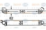Chłodnica powietrza doładowującego - intercooler BEHR HELLA SERVICE 8ML 376 746-454 BEHR HELLA SERVICE 8ML376746-454
