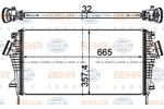 Chłodnica powietrza doładowującego - intercooler BEHR HELLA SERVICE 8ML 376 746-484 BEHR HELLA SERVICE 8ML376746-484