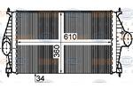 Chłodnica powietrza doładowującego - intercooler BEHR HELLA SERVICE 8ML 376 755-761 BEHR HELLA SERVICE 8ML376755-761