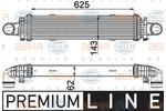 Chłodnica powietrza doładowującego - intercooler BEHR HELLA SERVICE 8ML 376 777-101 BEHR HELLA SERVICE 8ML376777-101