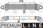 Chłodnica powietrza doładowującego - intercooler BEHR HELLA SERVICE 8ML 376 777-111 BEHR HELLA SERVICE 8ML376777-111