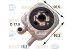Chłodnica oleju silnikowego BEHR HELLA SERVICE 8MO 376 778-051 BEHR HELLA SERVICE 8MO376778-051