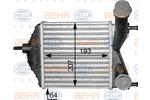 Chłodnica powietrza doładowującego - intercooler BEHR HELLA SERVICE 8ML 376 783-551 BEHR HELLA SERVICE 8ML376783-551