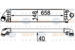 Chłodnica powietrza doładowującego - intercooler BEHR HELLA SERVICE 8ML 376 791-764 BEHR HELLA SERVICE 8ML376791-764